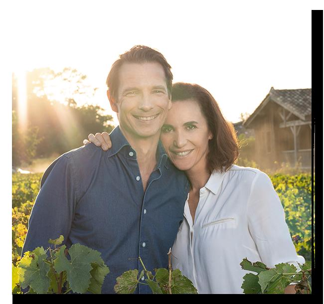 Mathilde et son mari Bertrand